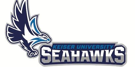 Keiser University TAMPA CAREER Summer 2019 employer registration tickets