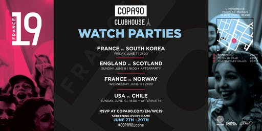COPA90 Clubhouse Women's World Cup 19 Watch Parties