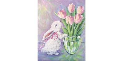 Ally's Art - A little bunny - fun painting class in Wheeling, IL