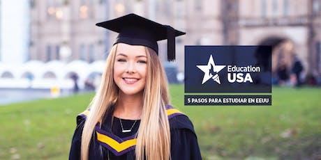 Charlas informativas - 5 pasos para estudiar en Estados Unidos entradas
