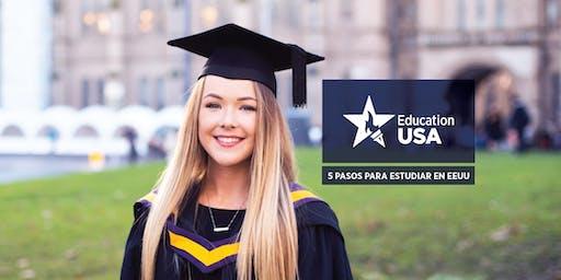 Charlas informativas - 5 pasos para estudiar en Estados Unidos