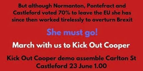 Kick Out Yvette Cooper MP tickets