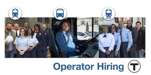 MBTA  Open House: Operator Hiring