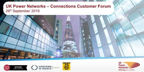 UK Power Networks | Connections Customer Forum (DER & Metered) | 26th September 2019 tickets