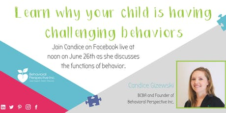 Learn Why Your Child is Having Challenging Behaviors tickets
