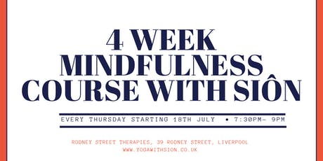 4 Week Mindfulness Course with Sion tickets