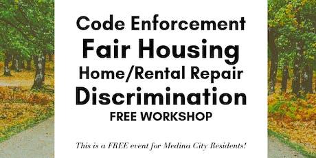 Code Enforcement,Fair Housing, Home/Rental Repair ...FREE Workshop tickets
