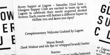 Glasgow Supper Club - Boozy Supper! tickets