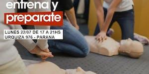 22/07 17HS PARANA CURSO RCP Y PRIMEROS AUXILIOS
