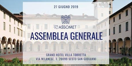 Assemblea Generale 2019 Assomet biglietti