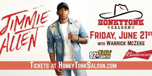 Jimmie Allen at HonkyTonk Saloon