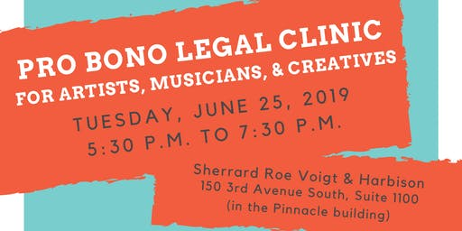 Pro Bono Legal Clinic for Artists, Musicians, & Creatives