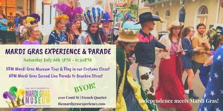 Mardi Gras Experience & Parade July 6th tickets