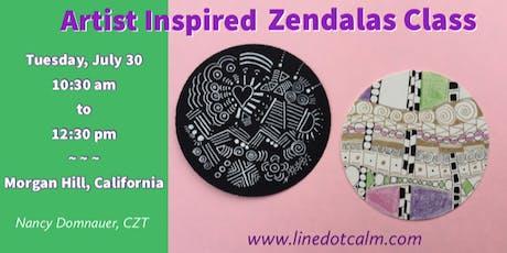 Artist Inspired Zendalas® Class tickets