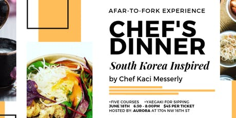 Chef Dinner - South Korea Inspired - With Chef Kaci Messerly tickets