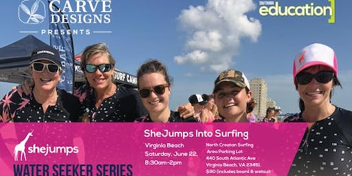 VA SheJumps Into Surfing – Virginia Beach
