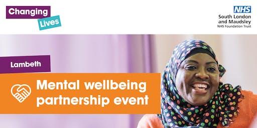 Lambeth - Mental wellbeing partnership event