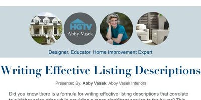 Writing Effective Listing Descriptions – Friendswood