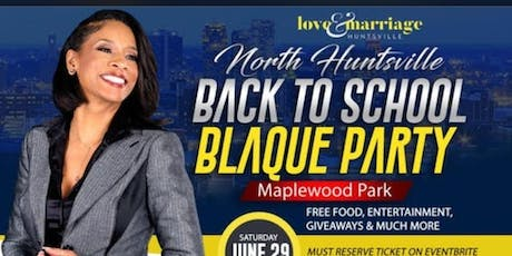 Huntsville Back To School Blaque Party tickets