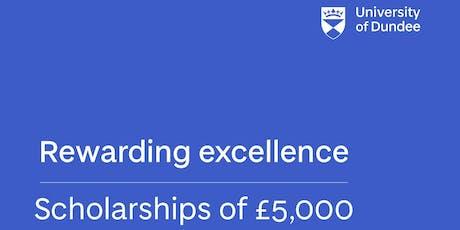 University of Dundee, UK - Global Excellence Scholarships (Postgraduate) tickets