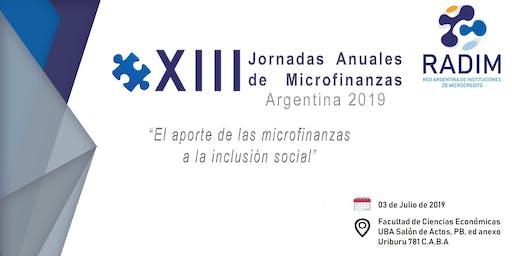 XIII Jornadas Anuales de Microfinanzas - Argentina 2019