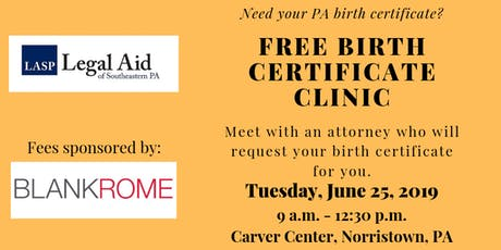 Free Birth Certificate Clinic tickets