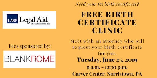 Free Birth Certificate Clinic