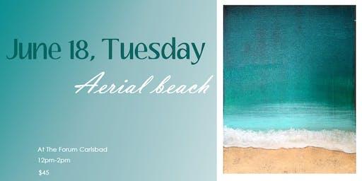 Paint with Acrylics! Aerial beach scene