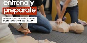 27/07 9AM CURSO RCP Y PRIMEROS AUXILIOS EN SALTA