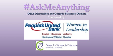 CWE Vermont - #AskMeAnything: Transition Planning Q&A - 6/19/19 tickets