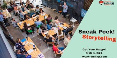 CMBXP Sneak Peek: Storytelling Workshop