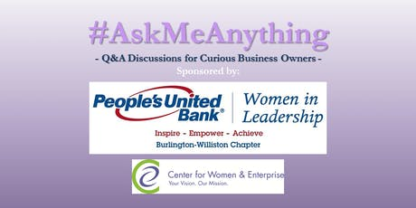 CWE Vermont - #AskMeAnything: Budgeting & Building Wealth Q&A - 9/18/19 tickets
