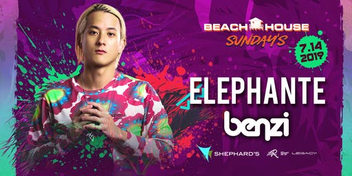 Elephante with Benzi at Beach House Sunday's