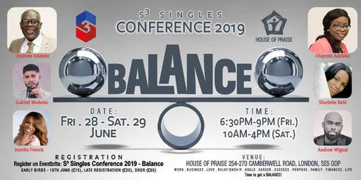 S³ Singles Conference 2019 - Balance LIMITED FREE TICKETS