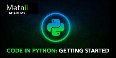 Code In Python: Getting Started! tickets
