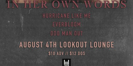 In Her Own Words at Lookout Lounge tickets