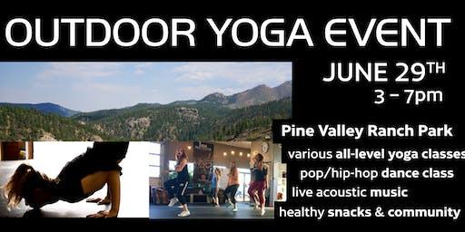 Outdoor Yoga Event