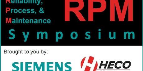 2019 Reliability, Process, & Maintenance (RPM) Symposium tickets