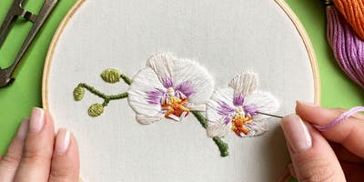 Embroidery Workshop: Orchids