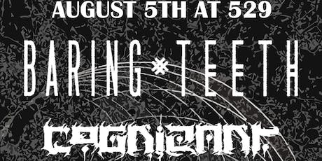 Baring Teeth, Cognizant, Palaces, and Aborning at 529 tickets