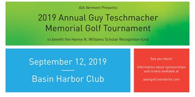 AIA Vermont's Annual Guy Teschmacher Memorial Golf Tournament 2019