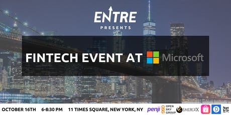 Fintech Event at Microsoft tickets