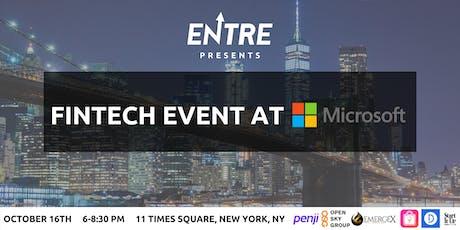 Fintech Event at Microsoft tickets