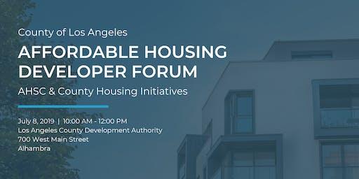 Affordable Housing Developer Forum