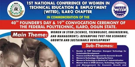 1st National Conference Of Women In Technical Education & Employment WITED tickets