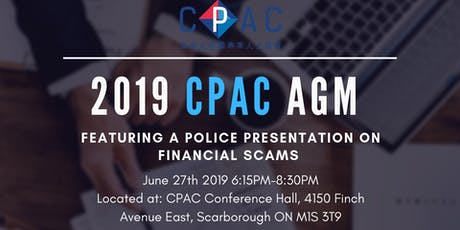 2019 CPAC Annual General Meeting  tickets
