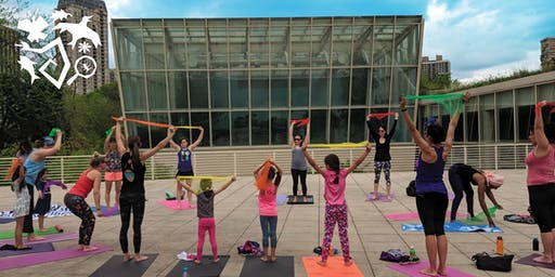 Family Yoga on the Terrace