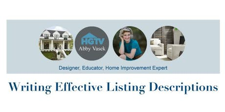 Writing Effective Listing Descriptions @ Independence Title - Crownridge Center tickets