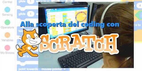 Alla scoperta del coding con Scratch biglietti