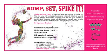 BUMP, SET, SPIKE IT!! Volley Ball Day Camp tickets